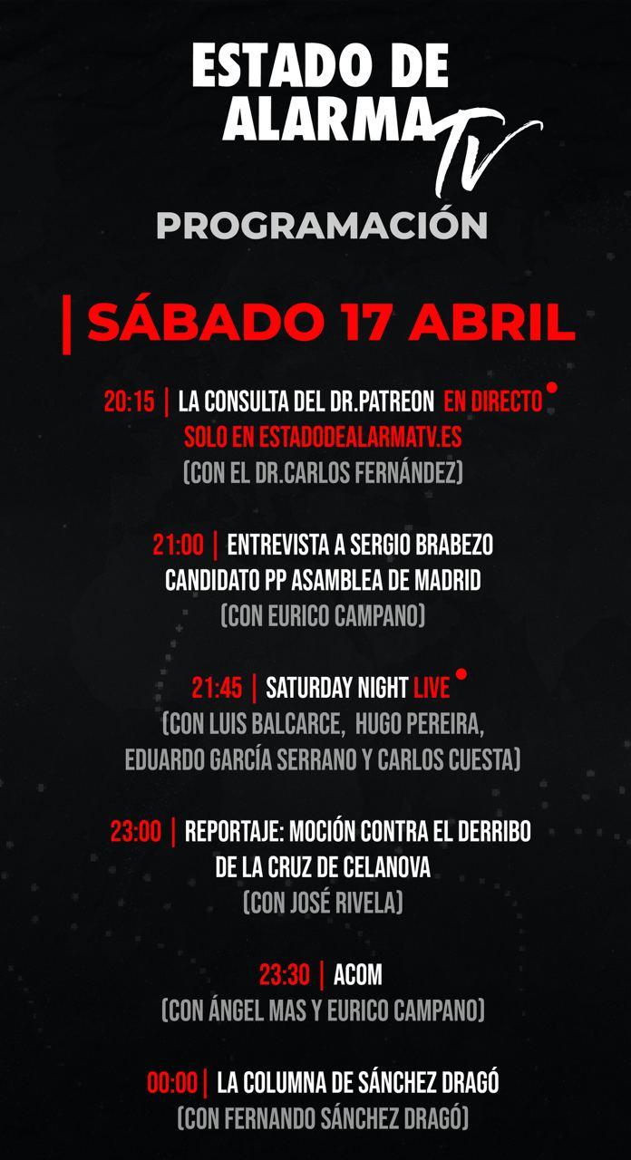 Programación Sábado 17 Abril