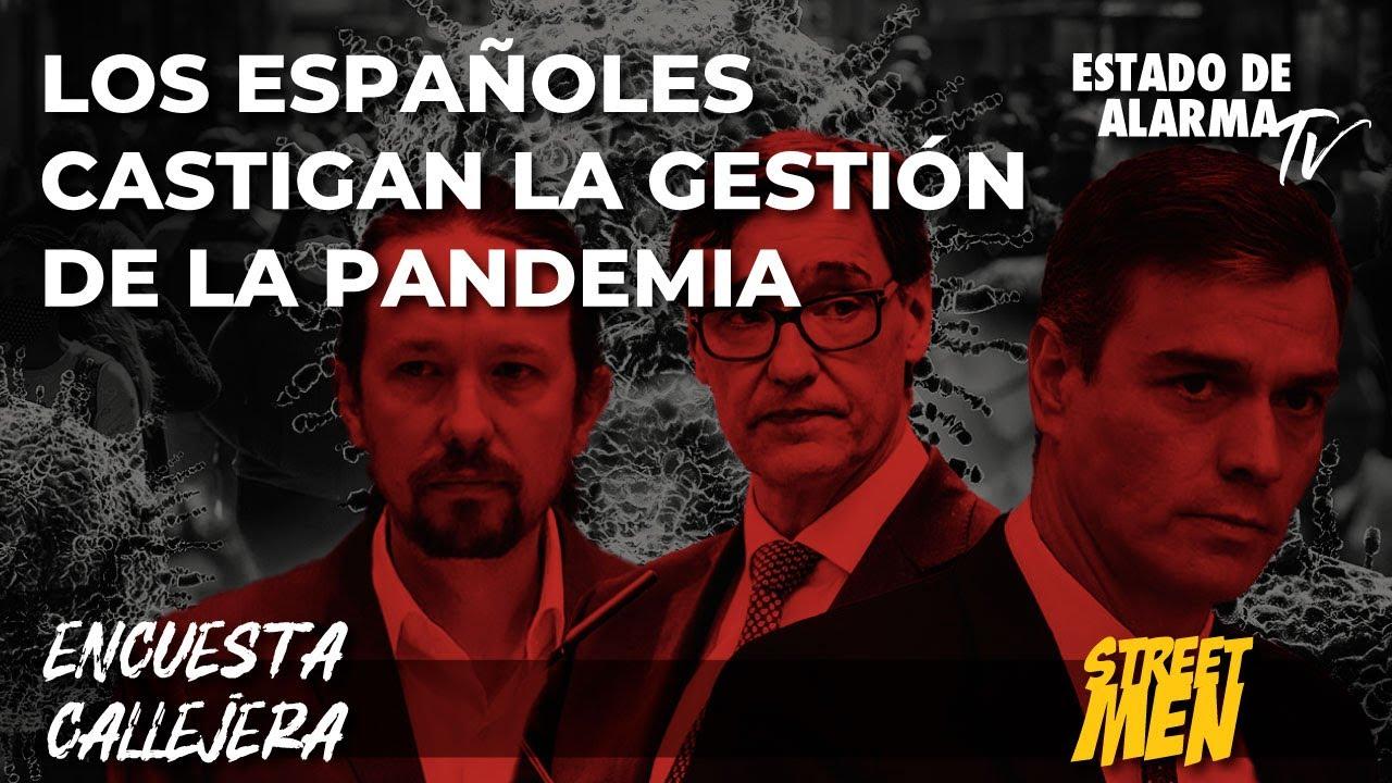 Encuesta callejera: Los Españoles castigan la gestión de la pandemia, Street Men