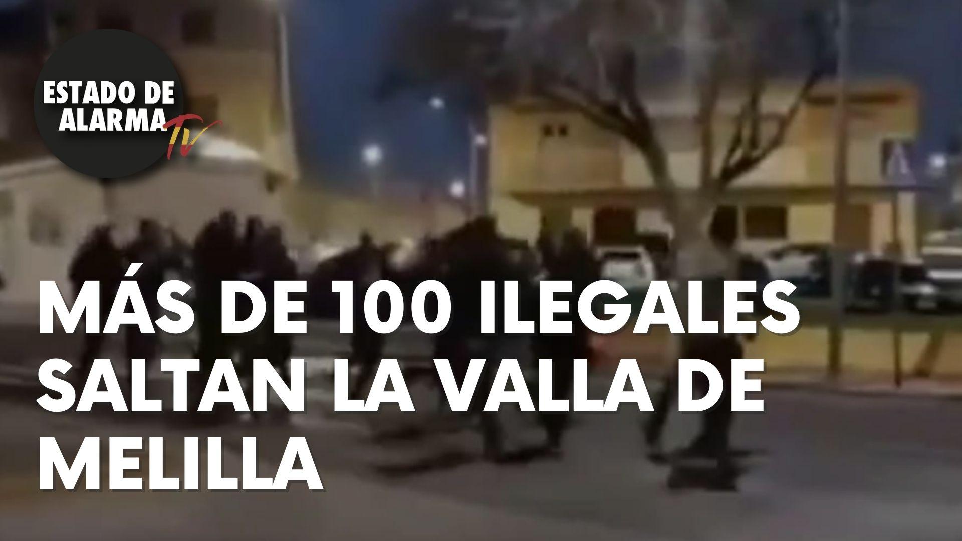 Más de 100 ilegales saltan la valla de Melilla