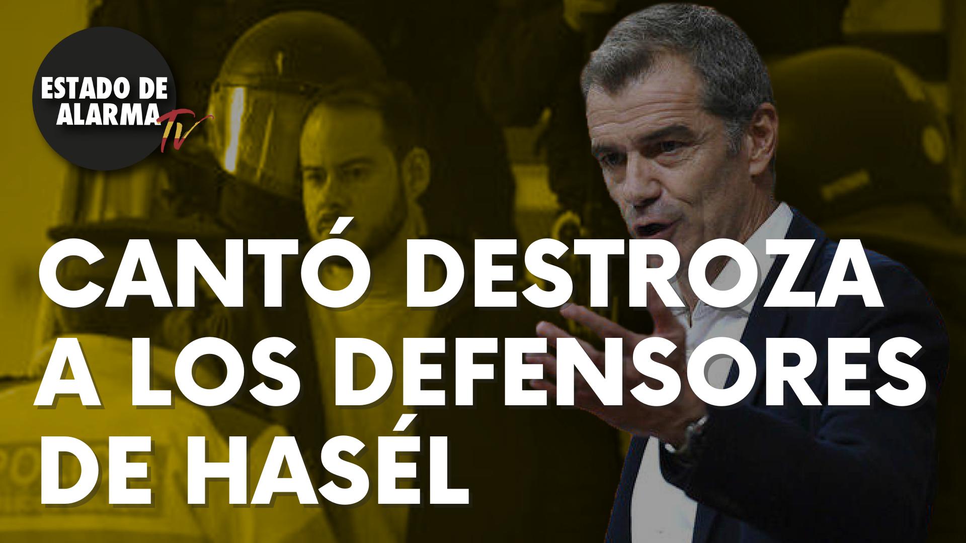 Un inmenso Toni Cantó destroza a los defensores de Hasél